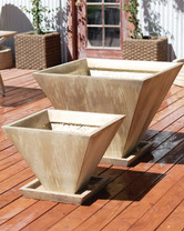 Oblique Planter - Material : GFRC - Finish : Ancient