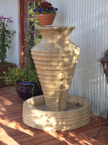 Large Olive Jar Fountain - Material : GFRC - Finish : Sierra