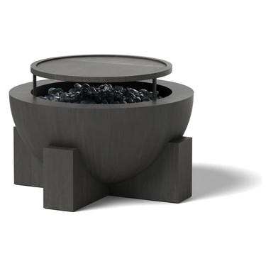 Round Fire Pit - Material : Aluminum - Finish : Oxidized Zinc