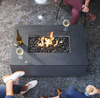 Rectangle Fire Pit Top View - Material : Aluminum, Granite - Finish : Oxidized Zinc, Ultimate Black
