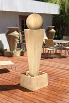 Spire Fountain - Material : GFRC - Finish : Desert Rose