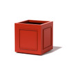 Square Pomo Planter - Material : Aluminum - Finish : Red