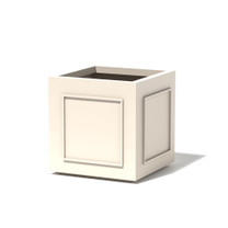 Square Pomo Planter - Material : Aluminum - Finish : Linen