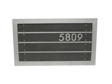 Slat Metal Address Sign - Material : Aluminum - Finish : Black, Silver
