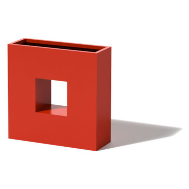 Square Box Planter - Material : Aluminum -Red