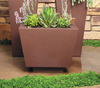 Trapezoid Planter Landscape - Material : Aluminum - Finish : PC Rust