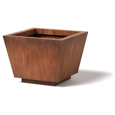 Trapezoid Planter - Material : Corten Steel - Finish : Natural Rust