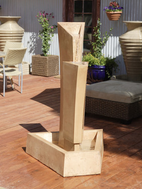 Tower Fountain - Material : GFRC - Finish : Desert Rose