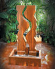 Vertical Canyon Wall Fountain - Material : GFRC - Finish : Custom