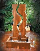 Vertical Canyon Wall Fountain - Material : GFRC - Finish : Custom