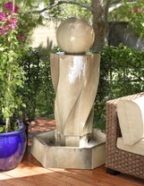 Vortex Fountain with Ball - Material : GFRC - Finish : Sierra