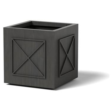 X Pomo Planter - Material : Aluminum - Finish : Oxidized Zinc
