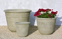 Carema Planters - Material: Cast Stone - Finish: Verde
