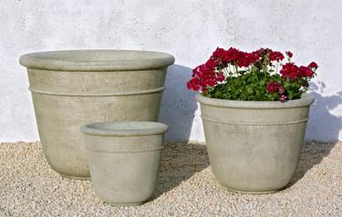 Carema Planters - Material: Cast Stone - Finish: Verde