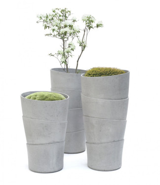 Palma Planter - Material : Fiber Cement - Finish : Gray