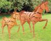 Trotting Metal Horse Sculpture