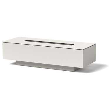 Linear Fire Pit - Material : Aluminum - Finish : White