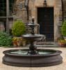 Caterina Fountain in Basin - FT-193 - Material : Cast Stone - Finish : Terra Nera
