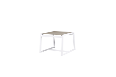 Allux Footrest - Powder-Coated Aluminum (white), Batyline (Light Taupe)