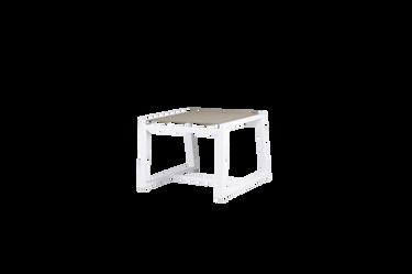Allux Footrest - Powder-Coated Aluminum (white), Batyline (Light Taupe)