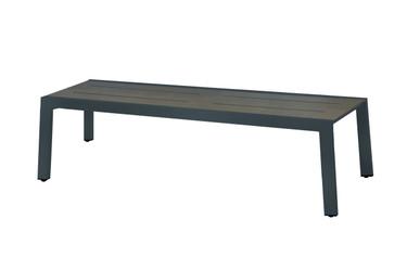 "BAIA Bench 57"" - aluminum (anthracite), high pressure laminate (slate)"