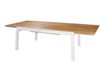 "BAIA Extension Table 67"" (Extended) - Teak, Aluminum (White)"