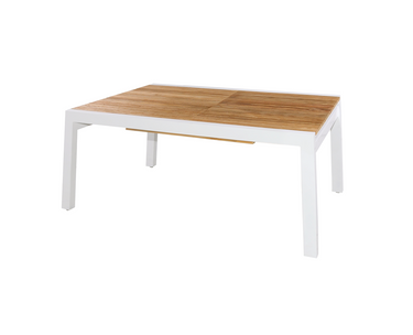 "BAIA Extension Table 67"" (Closed) - Teak, Aluminum (White)"