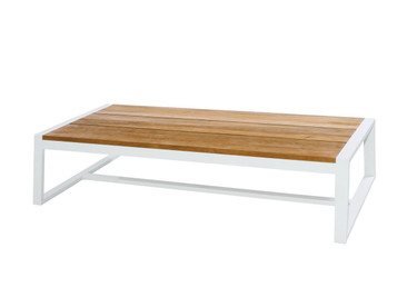 BAIA Coffee Table - Teak, Aluminum (White)