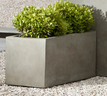 Modular Lite Low Rectangle - Material : Clay Composite - Finish : Concrete Lite