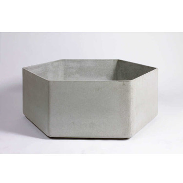 Hexago Container - Material : Fiber Cement - Finish : Grey