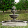 Monteros Fountain in Basin - Material : Cast Stone - Finish : Alpine Stone