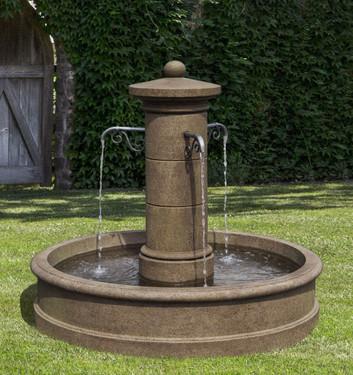 Avignon Fountain - Material : Cast Stone - Finish : Aged Limestone