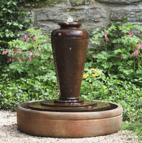 Bisbalos Fountain - Material : Cast Stone - Finish : Ferro Rustico