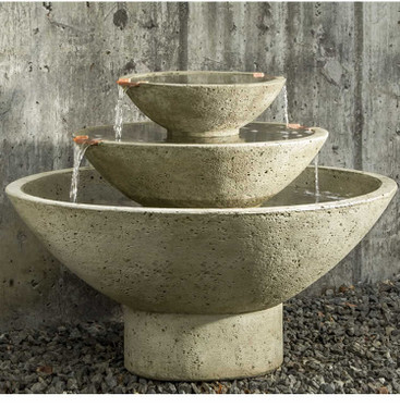Carrera Oval Fountain - FT-223 - Material : Cast Stone - Finish : Verde