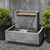 Falling Water II Fountain(FT-295) - Material : Cast Stone - Finish : Alpine Stone