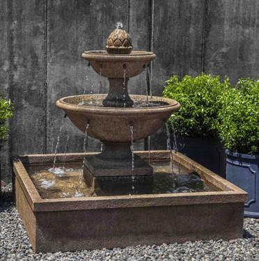 La Mirande Fountain(FT-289) - Material : Cast Stone - Finish : Aged Limestone