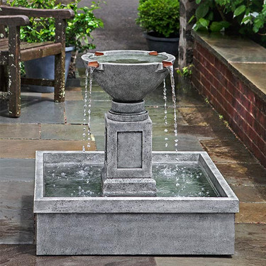 Rittenhouse Fountain(FT-277) - Material : Cast Stone - Finish : Alpine Stone