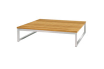 OKO Square Low Table  - Stainless Steel, Recycled Teak