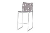 OKO Bar Chair - Stainless Steel, Standard Batyline Seat Sling, Keops Webbing Back