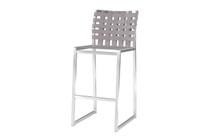 OKO Bar Chair - Stainless Steel, Standard Batyline Seat Sling, Keops Webbing Back