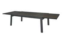 "BAIA Extension Table 67""-110"" (Extended) - High Pressure Laminate (slate), Aluminum (anthracite)"