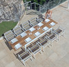 """BAIA Extension Table 90.5""""(Extended) with Stripe chairs"""