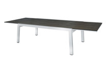 "BAIA Extension Table 67"" (Extended) - Stainless Steel, High Pressure Laminate (slate)"