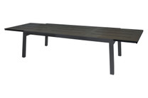 "BAIA Extension Table 90.5""-141.5"" (Extended) - High Pressure Laminate (slate), Aluminum (anthracite)"