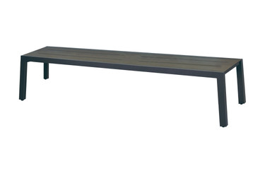 "BAIA Bench 80.5"" - Powder-Coated Aluminum (anthracite), High Pressure Laminate (slate)"