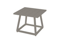 ALLUX Medium Side Table - Powder-Coated Aluminum (Taupe)