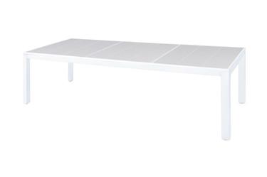 "ALLUX Dining Table 106.5"" x 39.5"" - Powder-Coat Aluminum (white), High Pressure Laminate (HPL)"