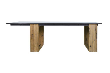 AIKO Dining Table (Butler Style) - Drift look teak legs (original), High Pressure Laminate Top