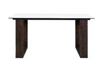 "AIKO Bar Table 79"" x 27.5"" - Drift look teak legs (espresso), High Pressure Laminate Top"