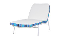 BONO Wellness Chair - Powder-Coated Aluminum (white),  Bono Cushion (Santorini)